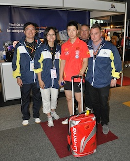 Ma Long visiting the VQ Stand