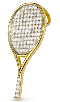 All-Star Tennis Racquet Pendant