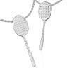 Badminton All-Star Racquet Pendant