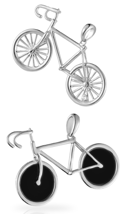 Racing Bicycle Pendant