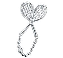 Crossed Racquets Pendant