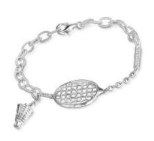 Free-Flowing Badminton Curb Bracelet