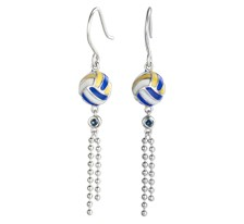 Free-Flowing Volleyball Earrings