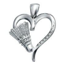 Heart of Badminton Pendant