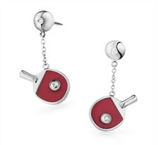 Free-Flowing Table Tennis Bat &amp; Ball Earrings