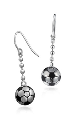 Free-Flowing Football Earrings