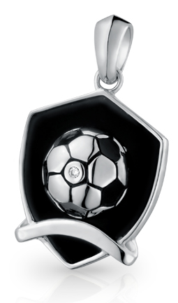 Soccer Shield Pendant