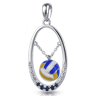 Free Flowing Volleyball Pendant
