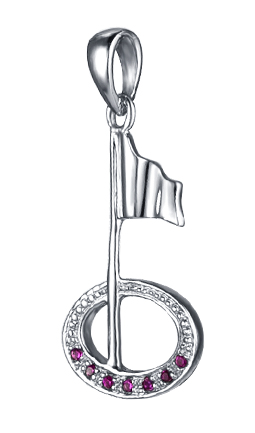 Golf Flag & Hole Pendant