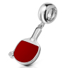 Table Tennis Bat Drop Charm Bead