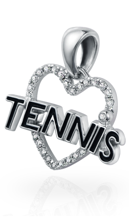 Love Tennis Pendant