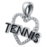 Love Tennis Pendant