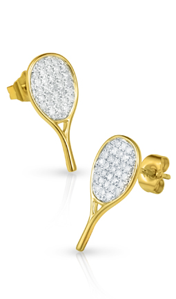 All-Star Tennis Racquet Earrings