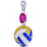 Volleyball Rocks Pendant