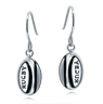 Rugby Ball Earrings