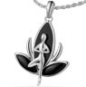 Lotus Flower Namaste Tree Pose Pendant