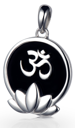 Om Lotus Flower Pendant
