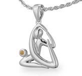 VQ Yoga King Pigeon Pose Pendant
